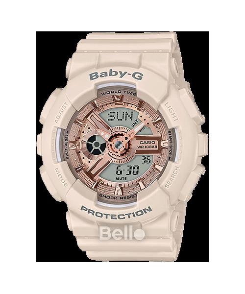 Đồng hồ Casio Baby-G Nữ BA-110CP-4A chính hãng chống va đập, chống nước 100m – Bảo hành 5 năm – Pin trọn đời