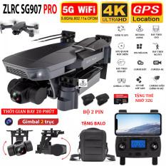 (NEW 2020-TẶNG BALO) – ( BỘ 2 PIN + THẺ NHỚ 32G)Máy bay Flycam SG907 PRO động cơ KHÔNG CHỔI THAN – Camera 4K HD – Gimbal 2 TRỤC – ZOOM 50X, thời gian bay 20 phút – BẢO HÀNH 6 THẮNG