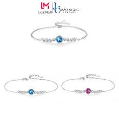 Vòng Tay Nữ Đính Đá Đơn Giản Vòng Tay Bạc Nữ Trơn Dày Dặn L2574 – Bảo Ngọc Jewelry