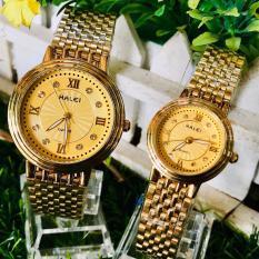 (Tặng kèm hộp và pin) Đồng hồ thời trang nam nữ Halei Mặt cườm số la mã S46