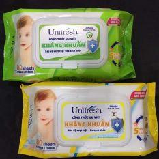 💥 Khăn giấy ướt Unifresh 80 tờ (không mùi) giúp mẹ chăm sóc bé yêu và gia đình.💰#20k / 1 gói