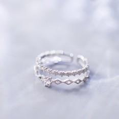 Nhẫn Bạc Nữ S925 Dạng Nhẫn Kép Điều Chỉnh Được Size – N2619 – Bảo Ngọc Jewelry