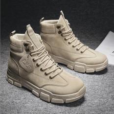 Giày cao cổ nam Fashion da cao cấp đế khâu kiểu dáng bụi bặm đường phố