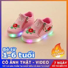 Giày bé gái – giày cho bé gái – giày trẻ em -giày thể thao cho bé gái- giày phát sáng trẻ em – Giày cao cổ gắn đèn led cho bé gái