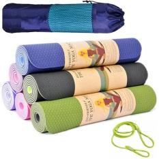 Thảm Tập Yoga TPE 2 Lớp 8mm Tặng Túi và Dây Buộc, Thảm Yoga miDoctor, Thảm Tập Gym, Thảm Tập Thể Dục Tại Nhà