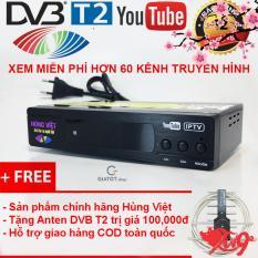 Đầu thu kỹ thuật số DVB T2 HÙNG VIỆT TS-123 Internet tặng Anten thông minh