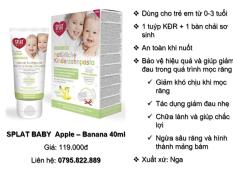 SPLAT BABY Apple – Banana 40ml (Phân phối chính hãng)
