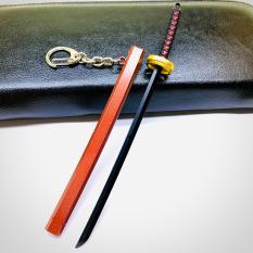 Móc khóa kiếm Tanjirou không gỉ thanh gươm diệt duỷ mô hình 17cm anime Kimetsu No Yaiba Phặn Phặn