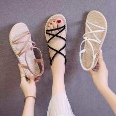 Giày Sandal Nữ Quai Chéo Đế Giả Cói Đi Mưa (Màu Ngẫu Nhiên) – GL002