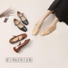 Giày mũi vuông cao 3 phân QUAI NGANG da đẹp (sẵn – có ảnh thật) P3