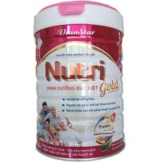 Sữa bột Vinastar Nutri Gold 900g dinh dưỡng cho nguòi ăn uống kém, người bệnh, người sau phẫu thuật hoặc sau sinh
