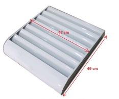 Louver – Chuyển hướng gió dàn cục nóng điều hòa máy lạnh thép sơn tĩnh điện kích thước 49x47cm