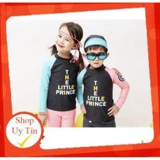 Bộ đồ bơi dài tay và quần dài dành cho bé trai bé gái quần áo bơi 2 mảnh xanh hồng