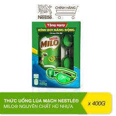 [Tặng kèm kính bơi năng động] Thức uống lúa mạch Nestlé Milo nguyên chất hũ nhựa 400g