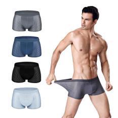 Quần Lót Nam Quần Sip xì đùi boxer Nam thông hơi thoáng khí cao cấp – Hộp 4 quần