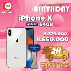 ( Free Vocher 437k 16-30/03) Điện thoại Apple iPhone X 64GB QUỐC TẾ Chính Hãng Apple Máy Đẹp Nguyên Zin hỗ trợ trả góp 0%