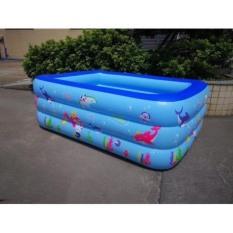 Bể phao bơi 2m1 cao 3 tầng loại dày