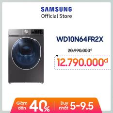 [Free giao hàng – công lắp đặt] Máy giặt sấy inverter add wash Samsung Addwash 10.5kg (WD10N64FR2X/SV) – Hàng chính hãng