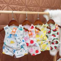 Bộ ba lỗ cotton giấy thoáng mát cho bé mặc mùa hè ( 4-16kg)