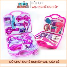 Đồ chơi trẻ em, Vali đồ chơi bác sĩ, vali đồ chơi trang điểm cho bé, chất liệu nhựa ABS an toàn với trẻ