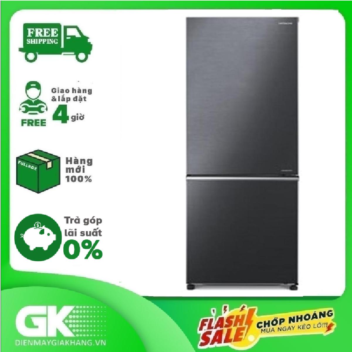TRẢ GÓP 0% – Tủ lạnh Hitachi Inverter 275 lít R-B330PGV8 BBK