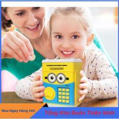 Két sắt mini thông minh mở bằng mật mã cho bé, ống heo đựng tiết kiệm cho bé yêu nhân vật hoạt hình, ket sat mini
