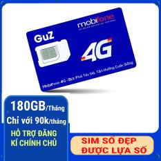 SIM SỐ ĐẸP MOBIFONE GÓI C90N 180GB/THÁNG +MIỄN PHÍ CUỘC GỌI