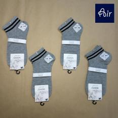 Combo 4 đôi vớ nam cổ ngắn xám basic – AIR MV019