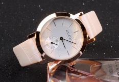 Đồng hồ nữ dây da cao cấp Guou G8128 kiểu dáng sang trọng (Trắng)