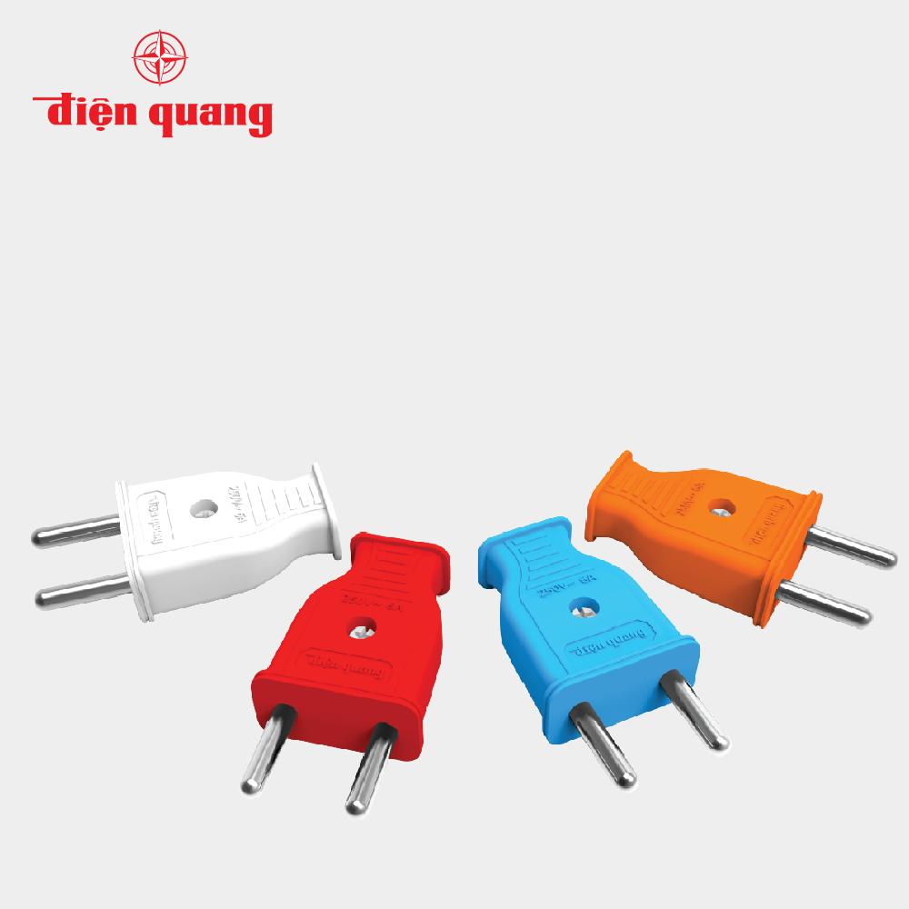 Set 10 Phích cắm Điện Quang ECO EPR01 (chân tròn, màu ngẫu nhiên)