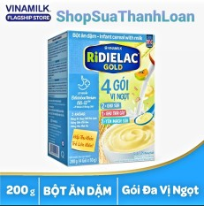 [HSD T11-2021] BỘT ĂN DẶM RIDIELAC GOLD 3 VỊ NGỌT – HỘP GIẤY 200G