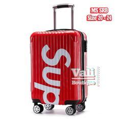 Vali kéo nhựa SUP đỏ – size 20