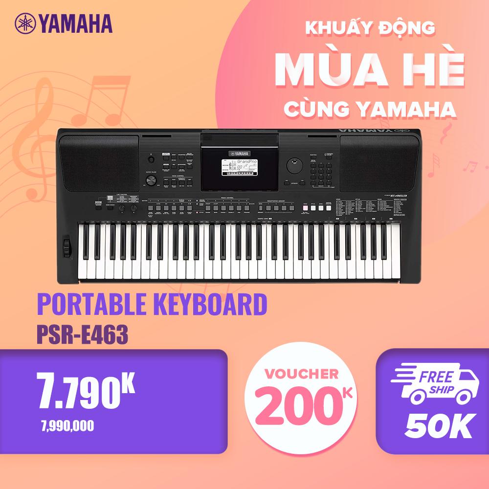 [Trả góp 0%] Đàn organ (keyboard) điện tử Yamaha PSR-E463 – Dòng đàn keyboard khởi đầu tốt cho việc biểu diễn758 âm sắc chất lượng cao 48 âm polyphony 235 kiểu nhạc đệm đi kèm – Bảo hành chính hãng 12 tháng