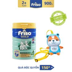 [Freeship toàn quốc] Sữa bột Friso Gold 4 900g cho trẻ từ 2-4 tuổi + Tặng Túi Gấu kool ngầu trị giá 150K