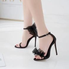 sandal cao gót nữ thắt nơ đối xứng gót nhọn 7&9cm kèm clip