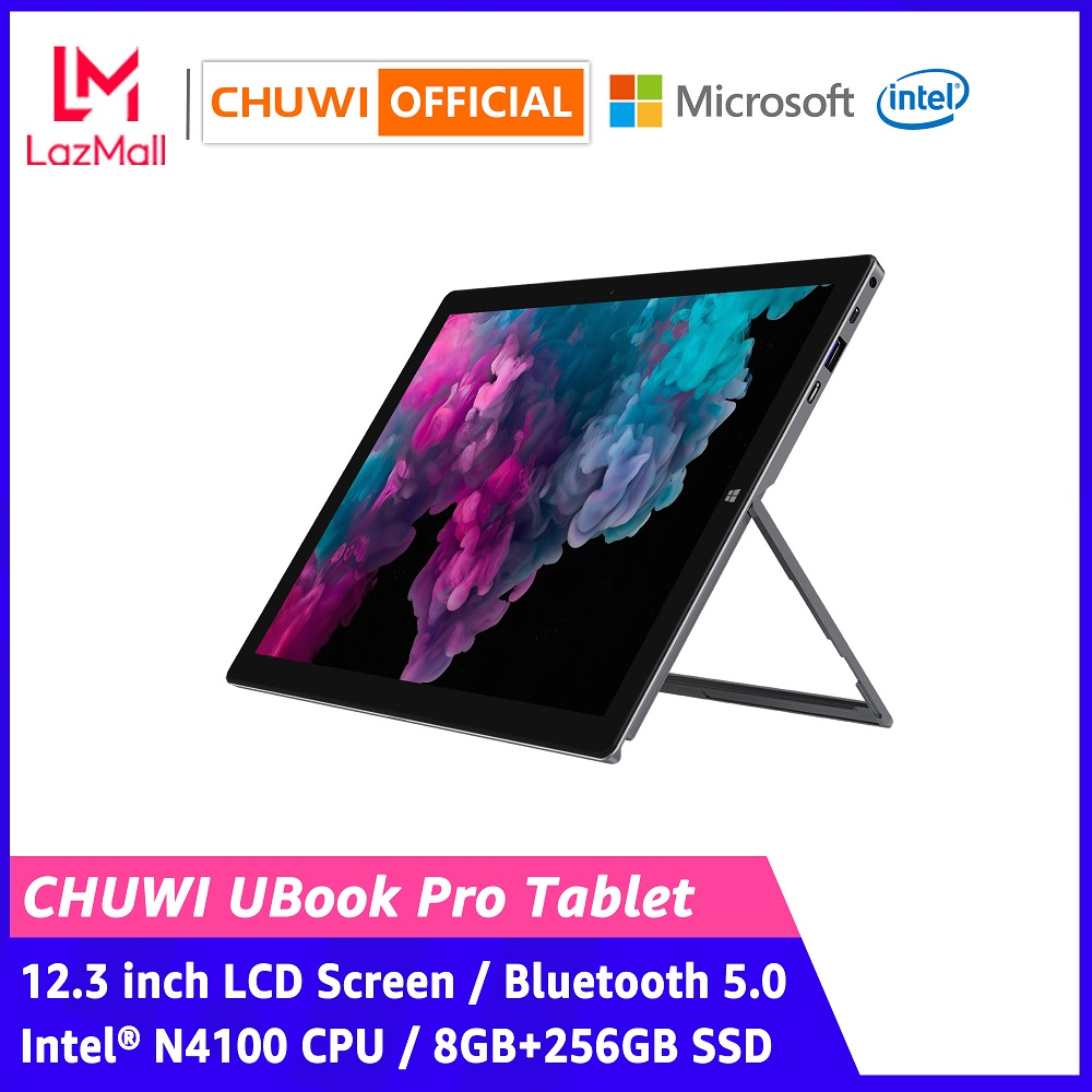 【CHUWI OFFICIAL】UBook Pro 2-in-1 Windows 10 Tablet PC / 12.3 Inch 1920*1280 IPS 3:2 Screen / Intel® N4100 CPU / 8GB+256GB SSD / Full Function Type-C / Bluetooth 5.0 / Optional 4096 Stylus & Keyboard Tablet