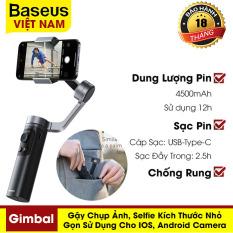 Gậy selfie Baseus, thiết kế nhỏ gọn, gimbal 3 trục ổn định dành cho IOS, Android Camera – phân phối chính hãng tại Baseus Việt Nam