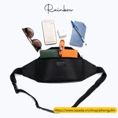 Túi bao tử túi đeo chéo nam Bumbag chính hãng Rainbow vải canvas chống nước nhiều ngăn đa năng BG002