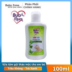 Sữa tắm gội toàn thân thảo mộc cho em bé chiết xuất trầu không và trà xanh Bub&Mum 100ml