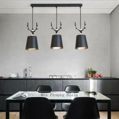 Bộ ba đèn thả bàn ăn – đèn thả hươu dễ thương – đèn trang trí quán cafe