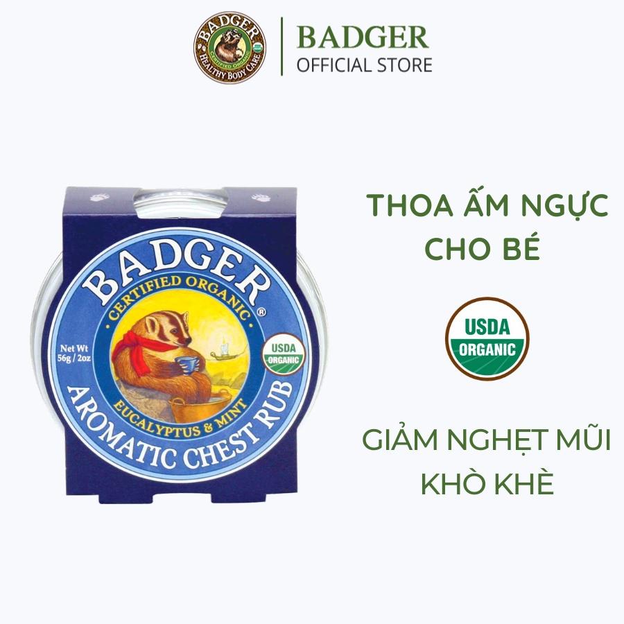 Sáp dầu hữu cơ thoa ấm ngực cho bé BADGER Chest Rub USDA organic – 21g 56g