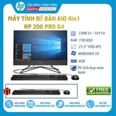 [Tặng Bàn phím+Chuột HP]Máy tính để bàn HP 4in1 HP 200 Pro G4 Core i3-10110U(2.10 GHz,4MB)4GB RAM,1TB HDD,DVDRW,Intel UHD Graphics,21.5″FHD,Wlan ac/BT,Win10Home 64,1Y WTY-2J892PA – Hàng Chín