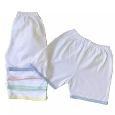 Quần áo trẻ em – Quần đùi sơ sinh cotton Trắng JOU ( hàng xưởng may Việt Nam)