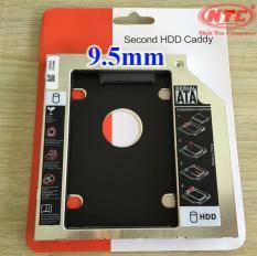 [HCM]Caddy Bay mỏng 9.5mm chuẩn SATA 3 lắp HDD/SSD thay vào ổ DVD trên laptop (bạc) – Nhất Tín Computer