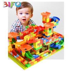 Bộ đồ chơi lắp ráp cầu trượt thả bi sáng tạo 128 chi tiết