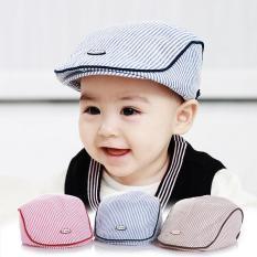 Mũ beret nồi cho trẻ em họa tiết sọc