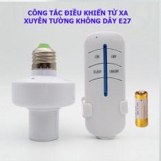 [Bán chạy nhất 2020] Đui đèn điều khiển bật tắt từ xa E27, đuôi đèn điều khiển bật tắt từ xa E27