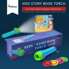 Máy chiếu phim mini cho bé KIDS STORYBOOK TORCH V1 (bốn câu chuyện, của Mideer)