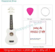 Đàn Ukulele Soprano Gỗ Màu Trơn (Limited) – Tặng 3 phụ kiện Sách học, phím gảy, dây dự phòng – Việt Hoàng Phong