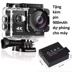 Camera hành trình 4K 30fps Sport Cam, tặng pin sơ cua 900mAh , chống nước , kết nối WIFI , bảo hành đổi mới 1 đổi 1,( đồng ý xem hàng trước khi nhận)